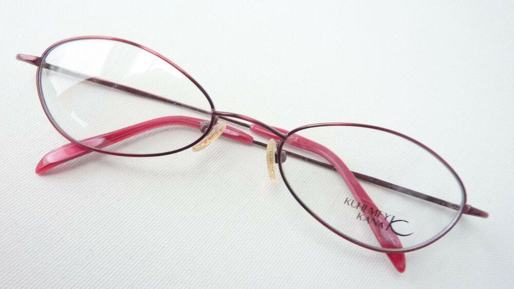 neueste kaufen Rabattgutschein viele modisch Brille Brillengestell Marke Metallfassung dunkelrot ...