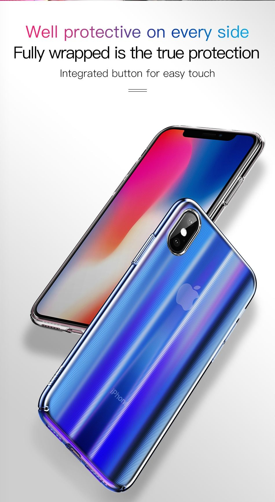 Apple iphone gradient luxury case for iphone xs xs max xr