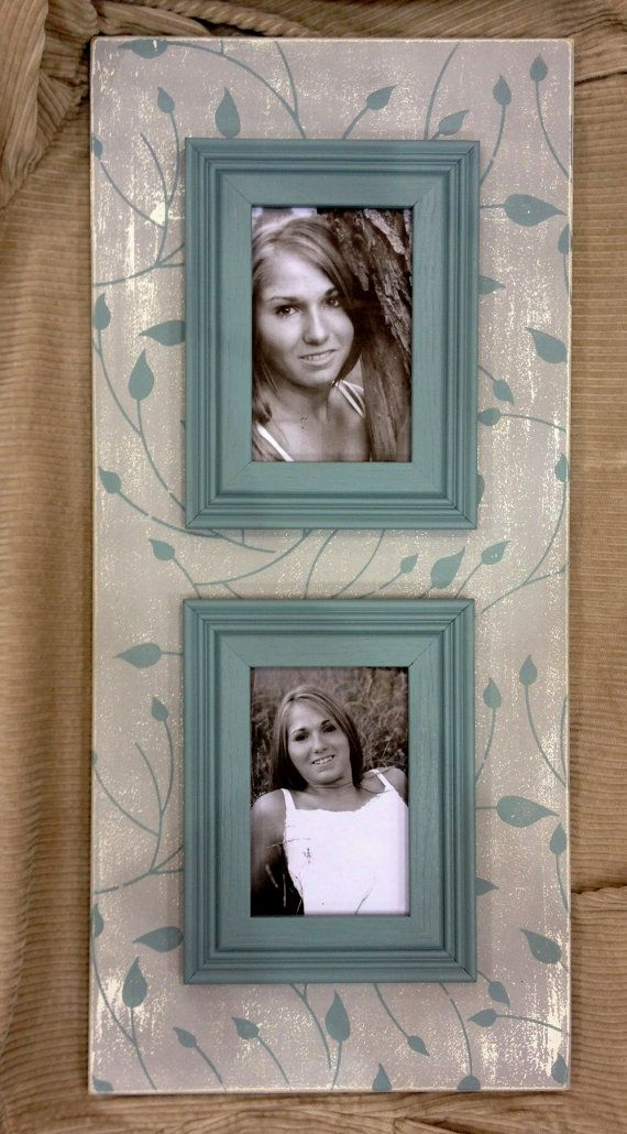 Distressed Double Magnetic Photo Frame 12 X 24 By Memoryscapes 80 00 Con Imagenes Marcos Cuadros