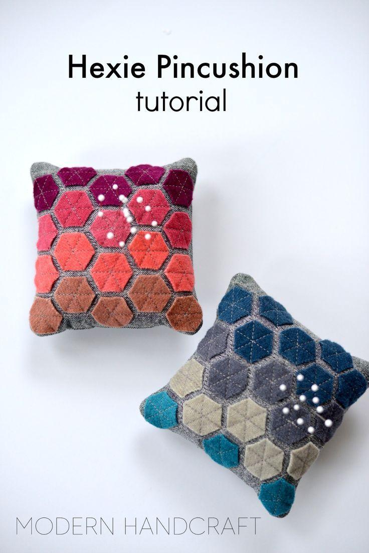 Hexie Pincushion / A Tutorial (Modern Handcraft)