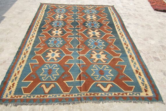 Coupon Code Nomad10 Big Stunning Afghan Kilim 6 6 X 9 6 Feet 100 Wool Hand Made 320 00 Via Etsy Natural Area Rugs Area Rugs Living Room Area Rugs