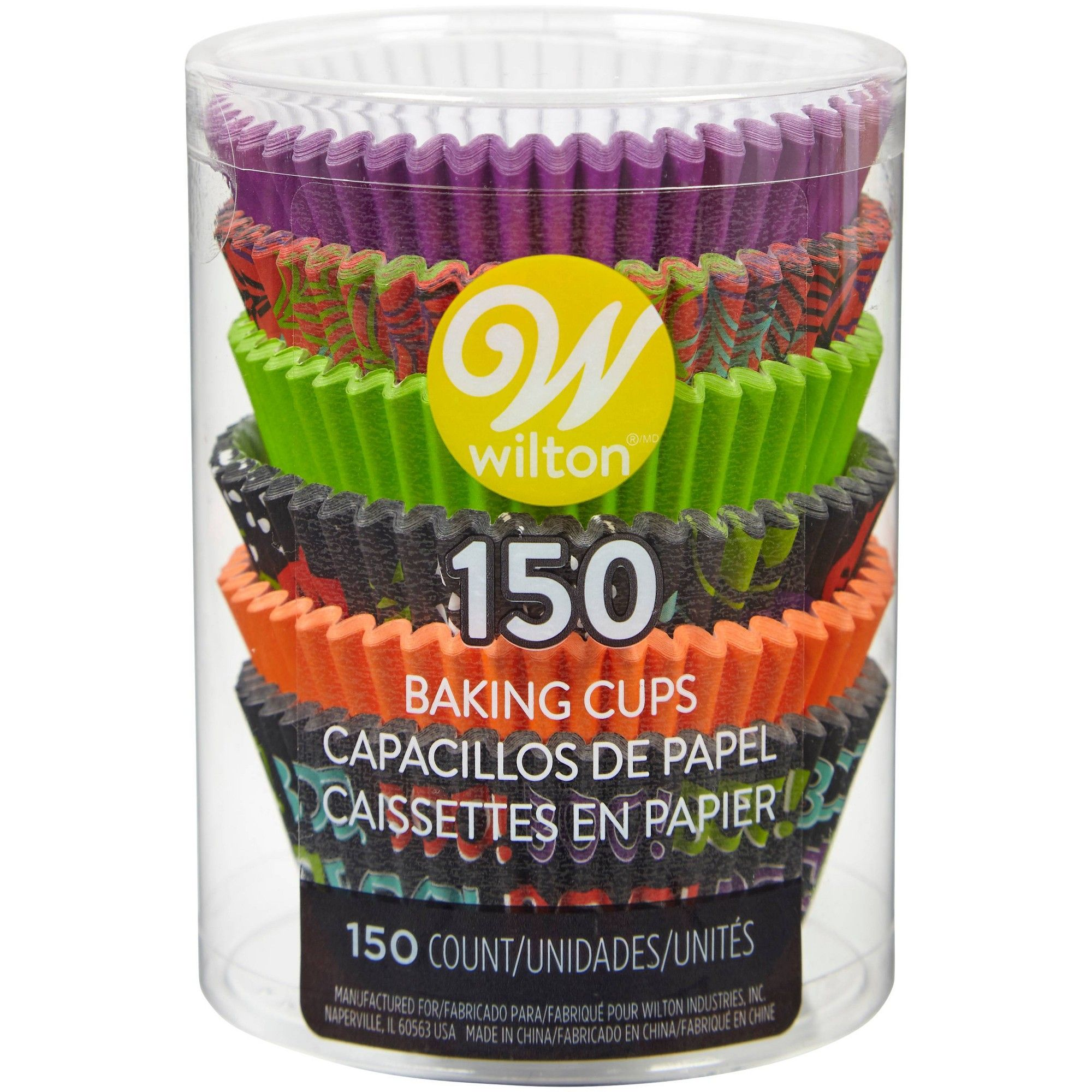 Wilton 150ct Paper Happy Halloween Standard Cupcake Liners