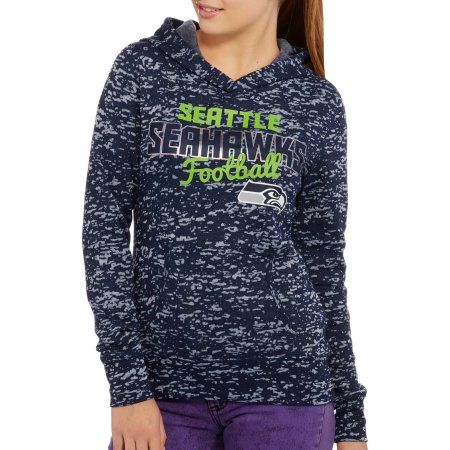 NFL Juniors Seahawks Fleece Hoodie, Size: XS, Multicolor