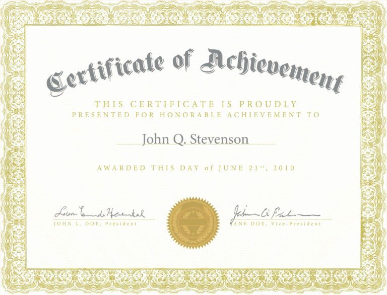 Fresh Army Certificate Achievement Template Example Mughals With Rega Certificate Of Achievement Template Free Certificate Templates Certificate Of Achievement