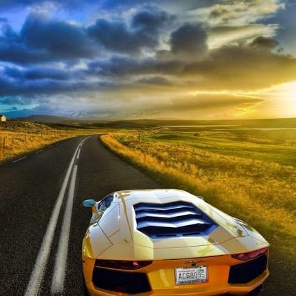 Open road and a Lambo