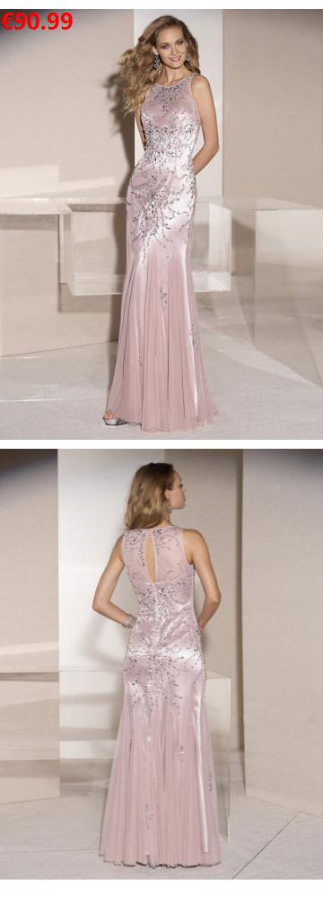 Aus Tüll wunderschöne edle Abendkleider Ballkleider pink ...