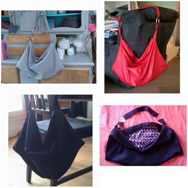 Une série de sacs Swing réalisés par Nazma et ses copines - Patron de couture Sacôtin
