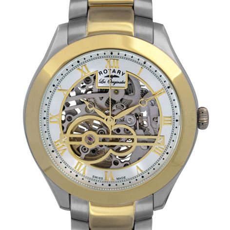 Rotary Mens Jura Automatic skeleton watch - GB90515/10 | Rotary Watches