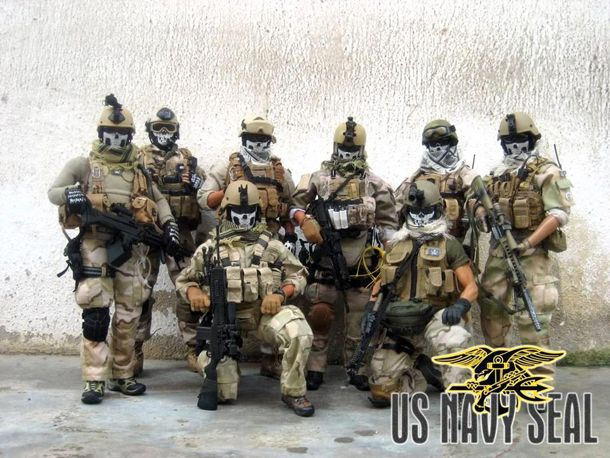 Navy Seals Team 3 With Punisher Masks Their Adopted Logo Former
