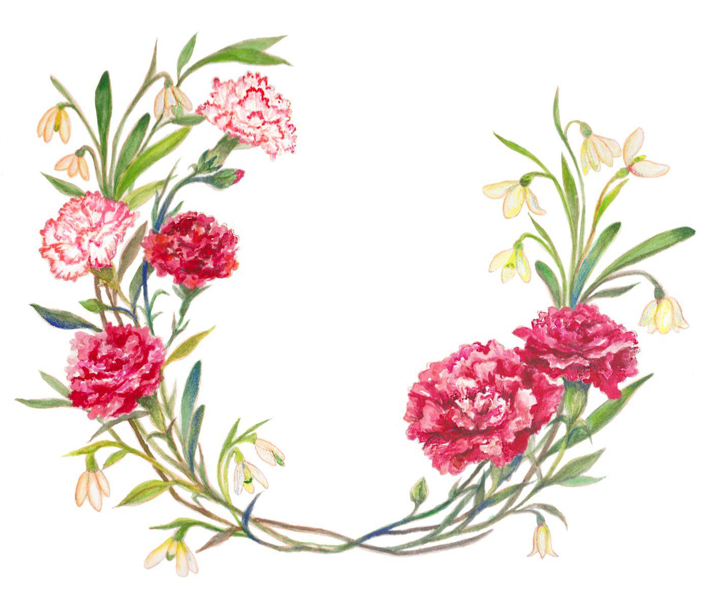birth month flowers January Carnation flower tattoo