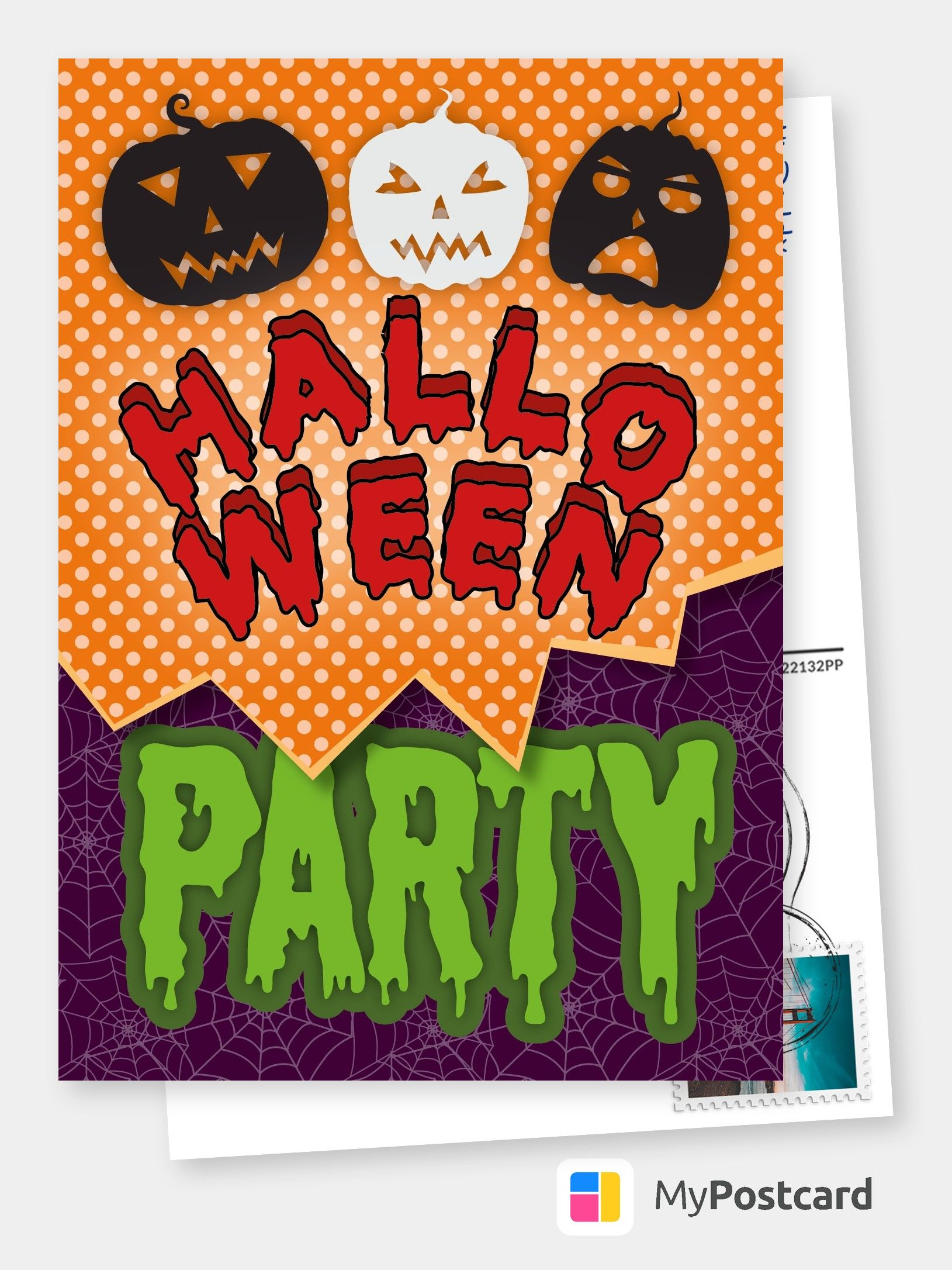 Join My Halloween Party Halloween Cards Quotes Send Real Postcards Online Halloween Cards Handmade Halloween Greetings Halloween Cards