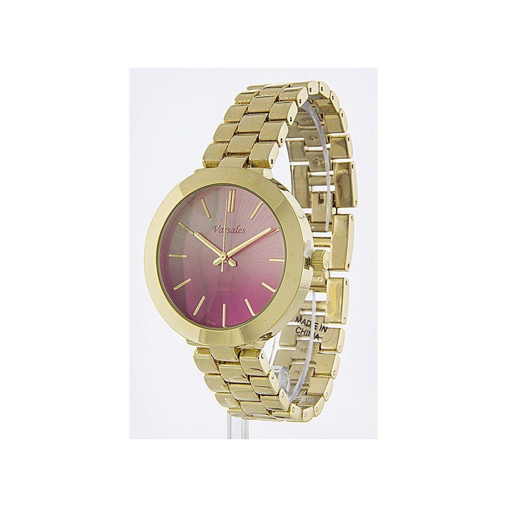 Purple Ombré Gold Band Watch