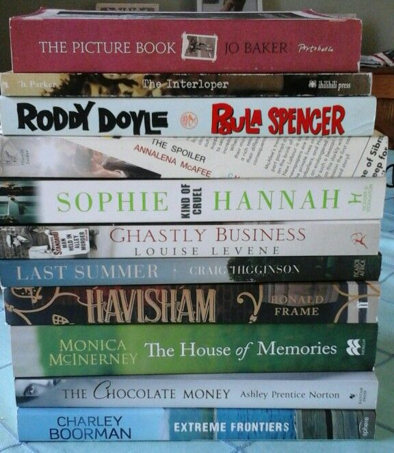 My latest pile of books bought on a sale!