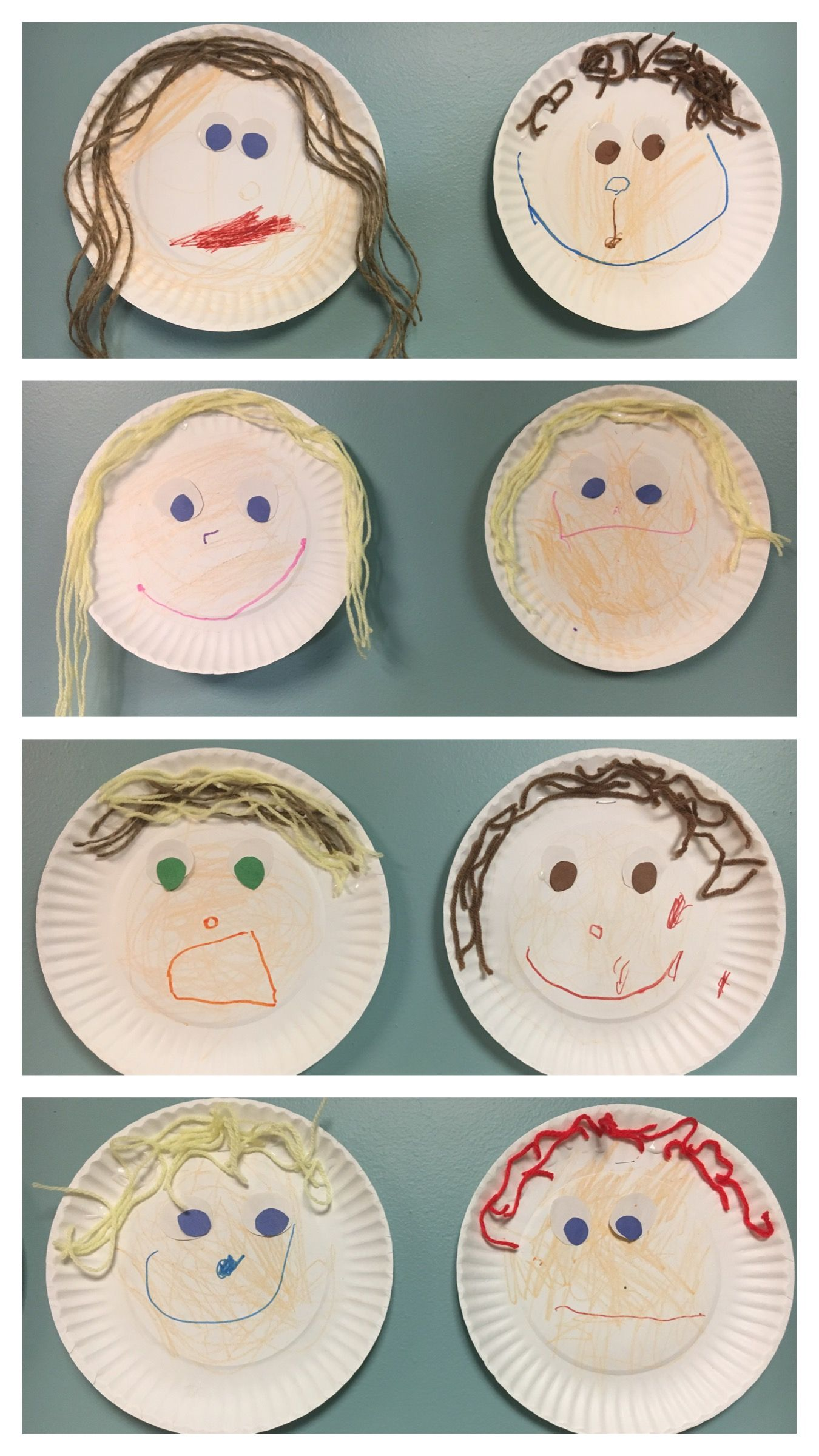 Self Portrait Paper Plate Art Pre K All About Me Week We Made These During All About Me Week
