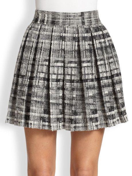 459590a48503 Women's Black Tweed Pleated Skirt   Pleated Skirts   Pleated Skirt ...