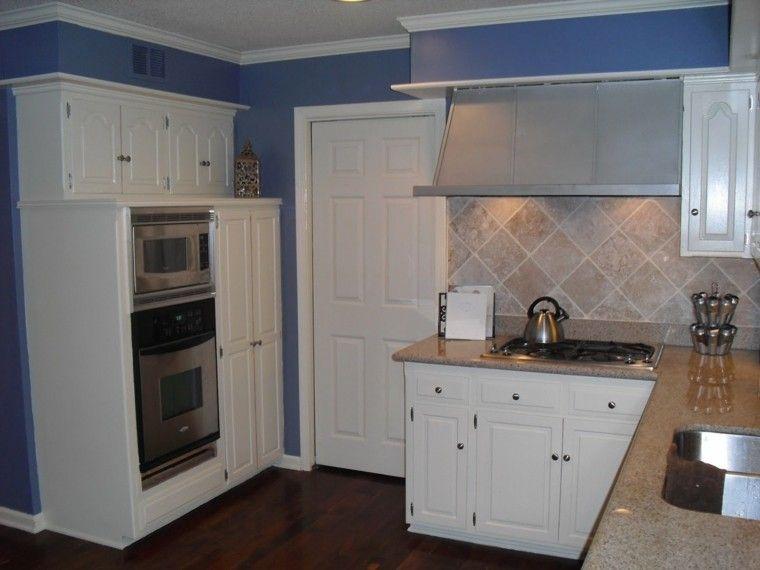 Pintura de cocina color azul viol ceo paint colors - Pintura para cocinas ...