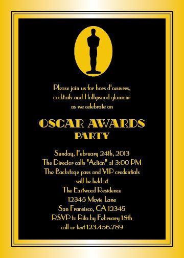 oscars party invitation digital 12 99 via etsy award shows