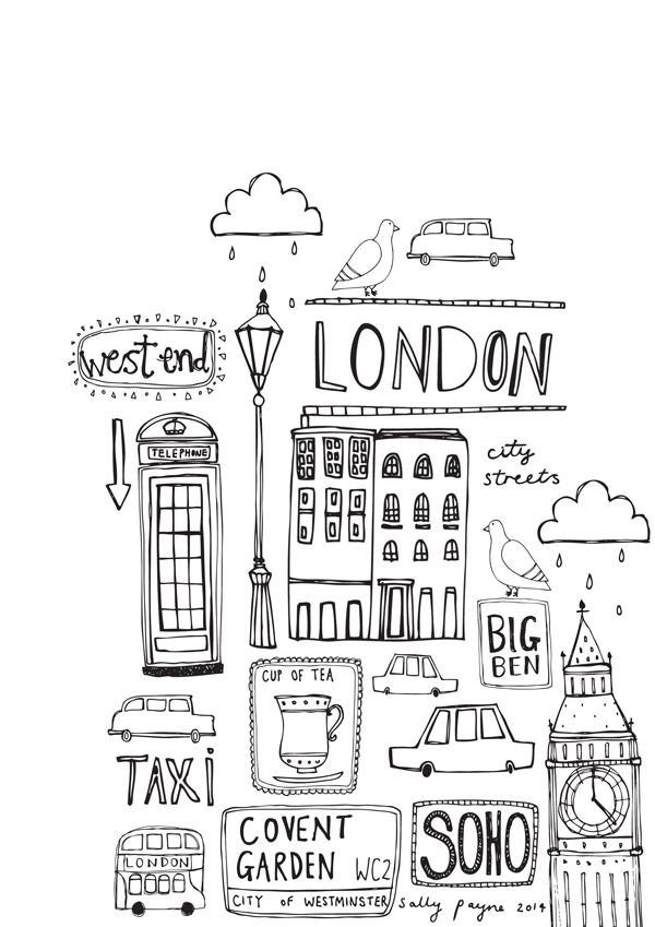 Londonb_w-sallypayne2014.png 600 × 849 pixels (With images