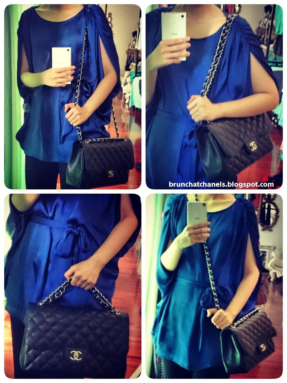 0d911b22328a Brunch At Chanel's: 4 Ways to Wear Chanel Jumbo Flap (strap adjustment tips)