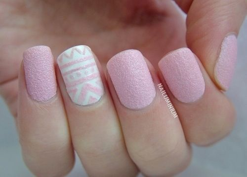 uñas cortas pintadas de rosado | nails art | pinterest | nails, nail