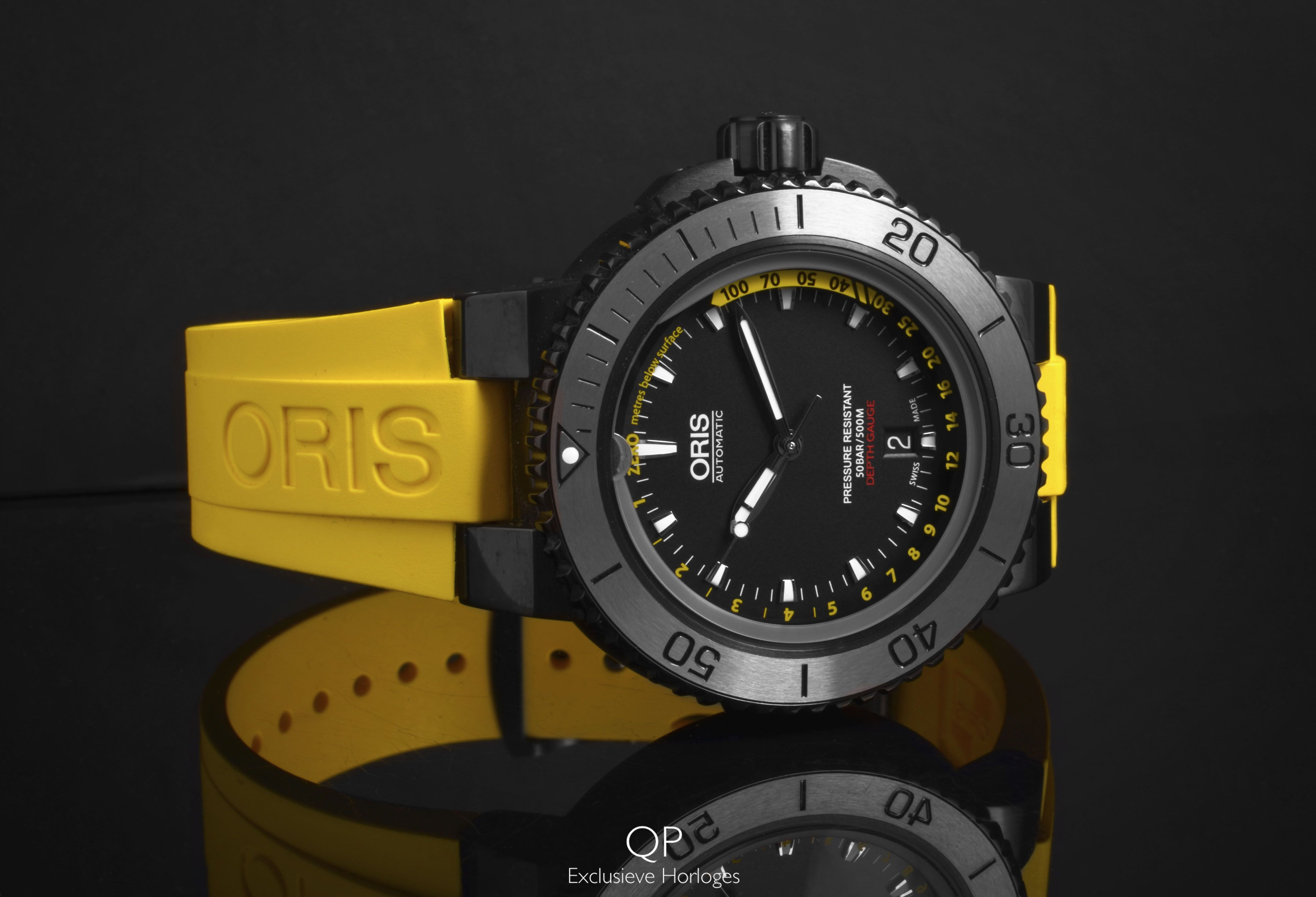 The Aquis Depth Gauge by Oris; a diver we just can't get ...
