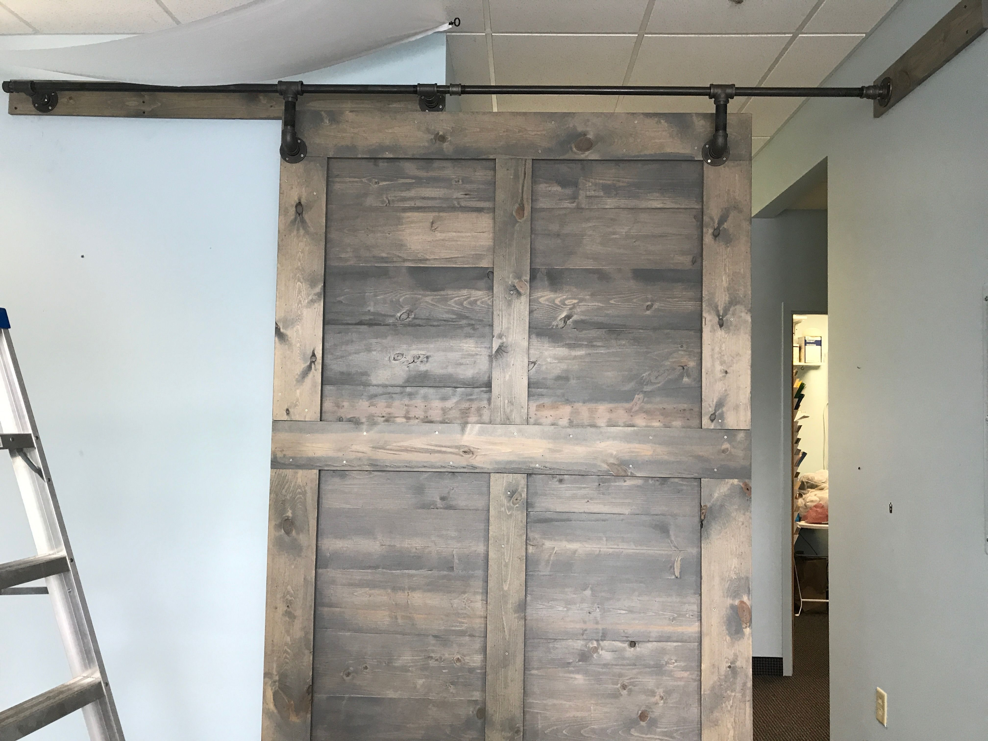 Barn Door Backside With The Pipe Hardware Frazer Construction
