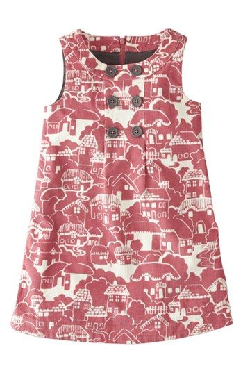 0ff6d27084735 Free shipping and returns on Mini Boden Corduroy Pinafore Dress (Little  Girls & Big Girls) at Nordstrom.com. A cheery print livens up a  button-trimmed ...