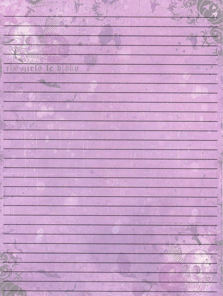 Printable Writing Paper By AimeeValentineArt   Memo