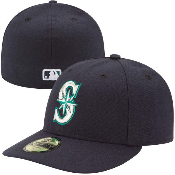 size 40 3e3c2 a649e Men s Seattle Mariners New Era Navy Authentic Collection Low Profile Home 59FIFTY  Fitted Hat   MLBShop.com