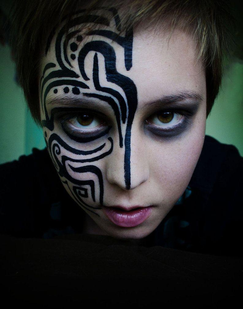 Grat Warpaint For A Performance Tribal Makeup Viking Face Paint Tribal Face Paints