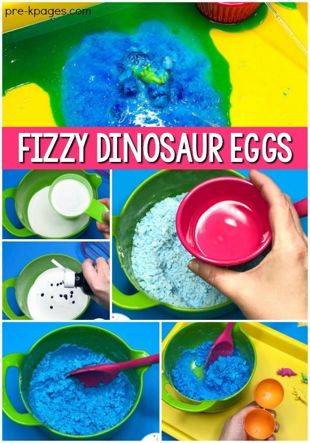 Dinosaur Eggs Fizzy Science Experiment - Pre-K Pages