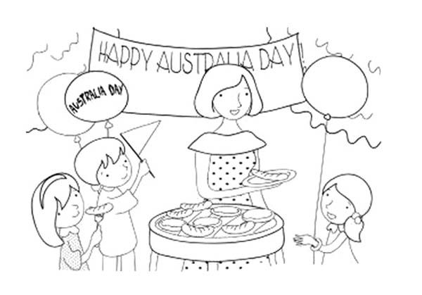 Australia Day With Family Coloring Page For Kids | Action Man ...