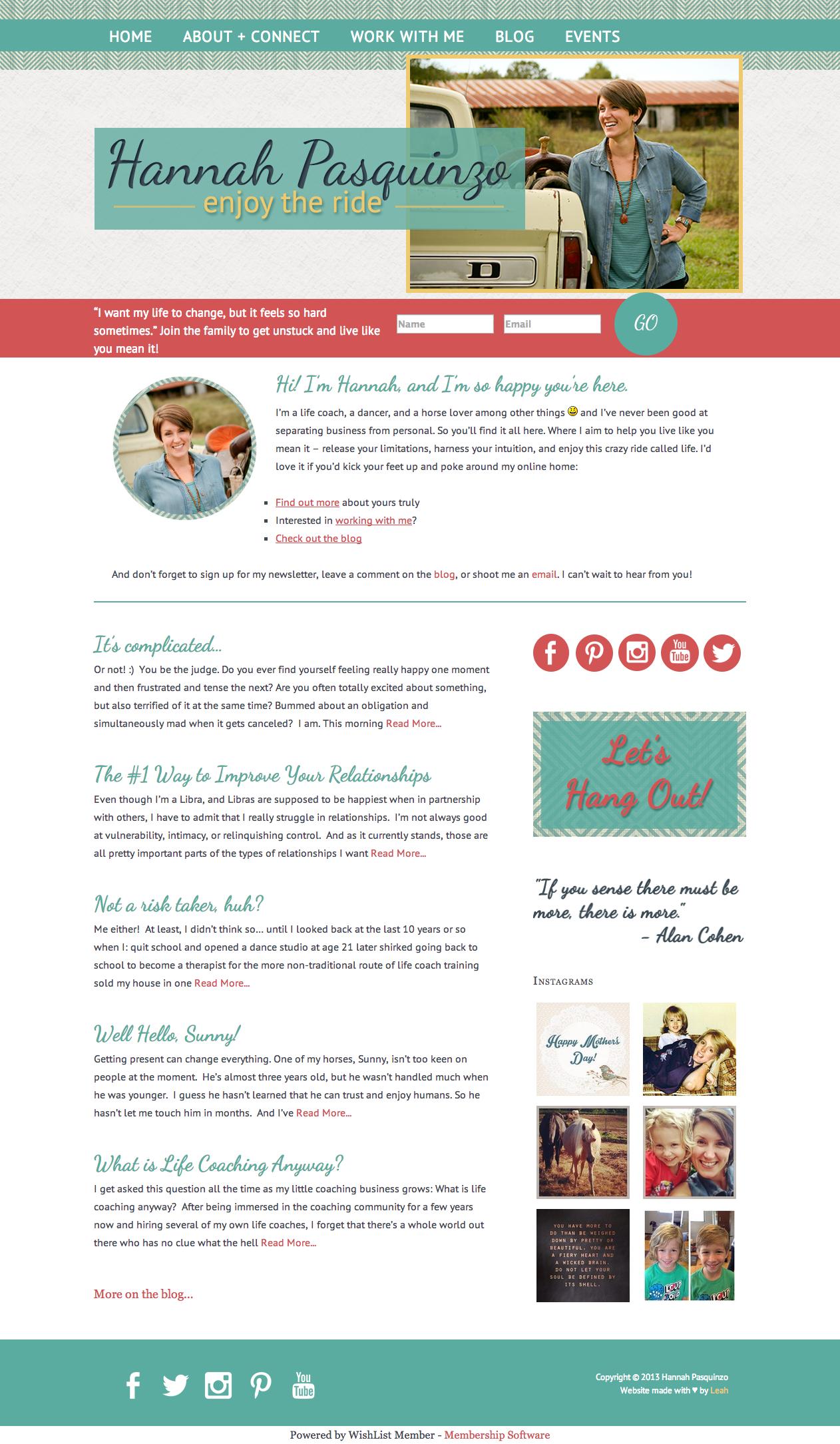 Life coach website   Coach website, Life coach, About me blog