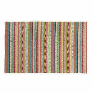 Tapis àrayures en coton multicolore 120 x 180 cm TWIST