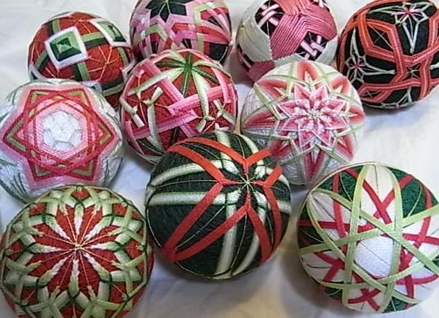 christmas holiday decor christmas temari balls holiday decorations japanese textiles