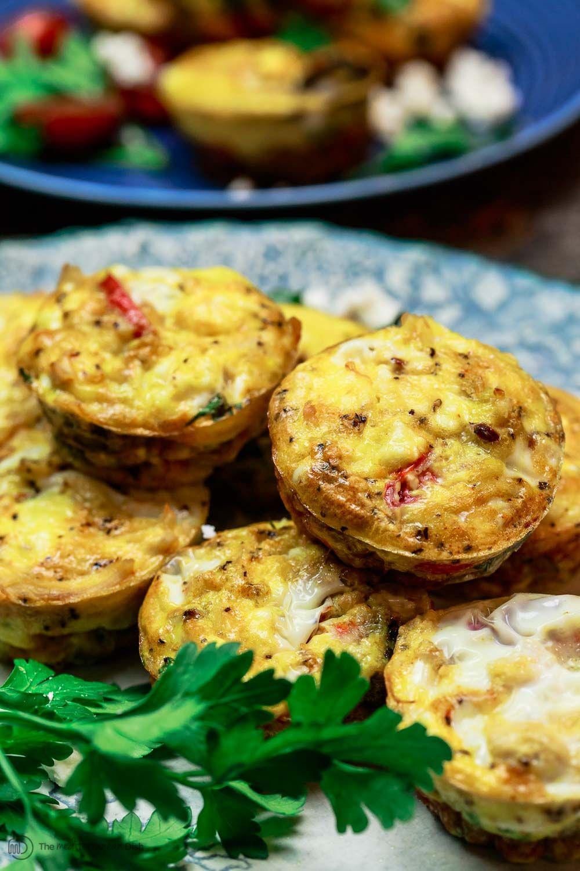 Mediterranean Breakfast Egg Muffins #glutenfreebreakfasts