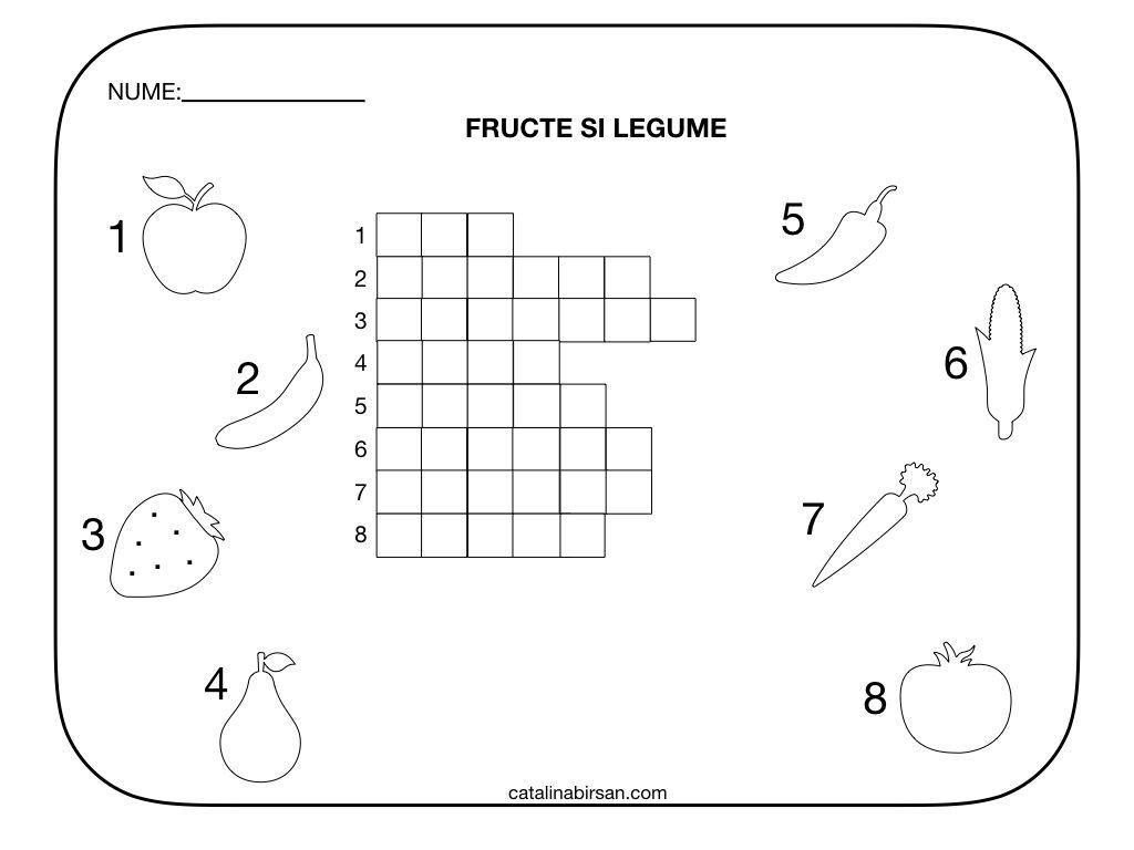Rebus Fructe Si Legume 2 Modele