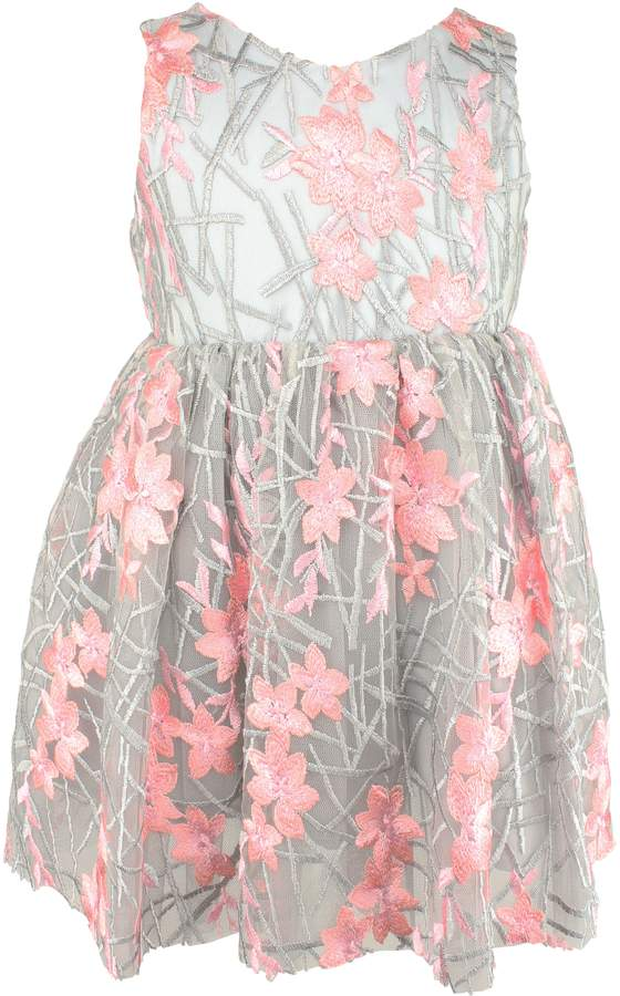 a5417b43c48 Popatu Embroidered Flower Fit   Flare Dress