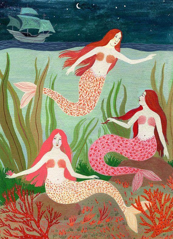 mermaid gathering by beccastadtlander on Etsy