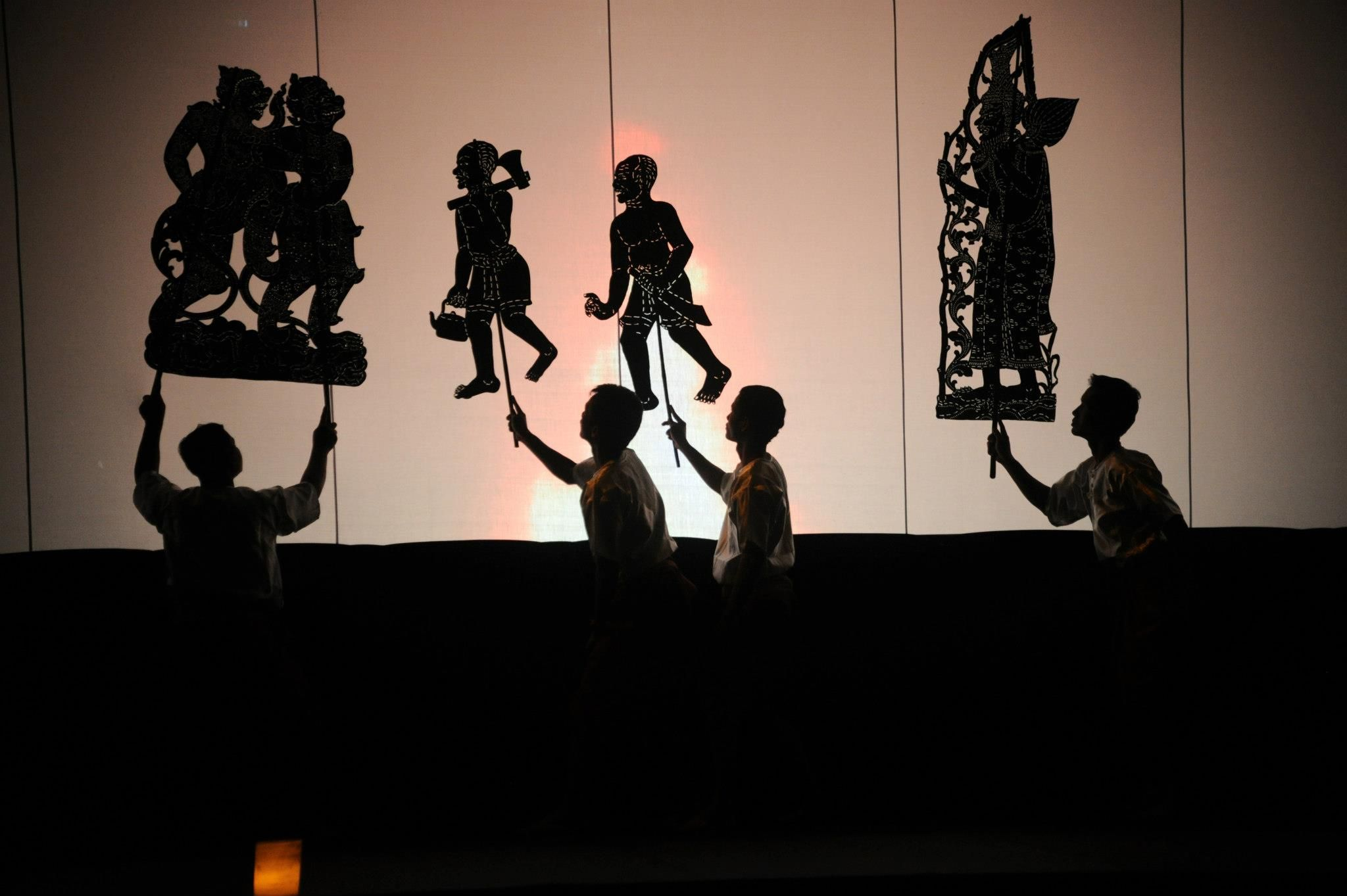 shadow puppet troupe of wat bo at brookfield place winter garden