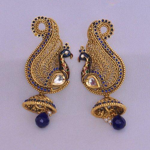 Designer peacock Earrings