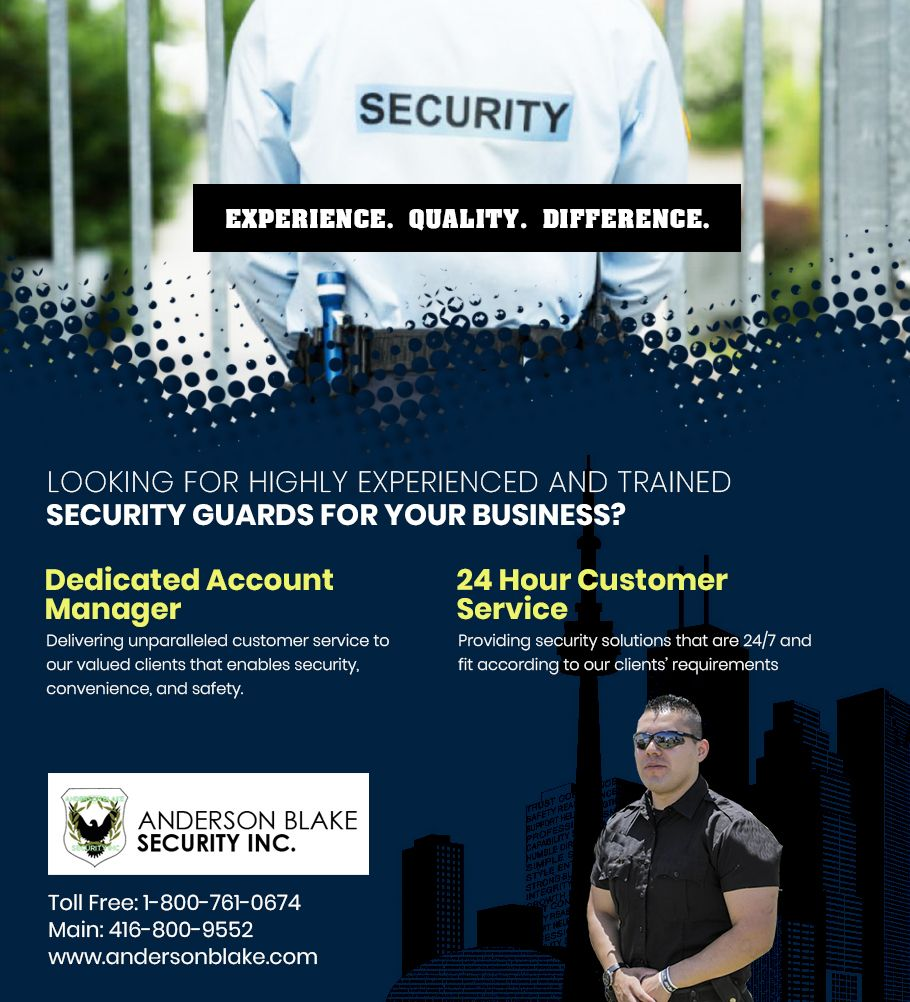 Security Guard in Brampton, Mississauga, Toronto, Ontario