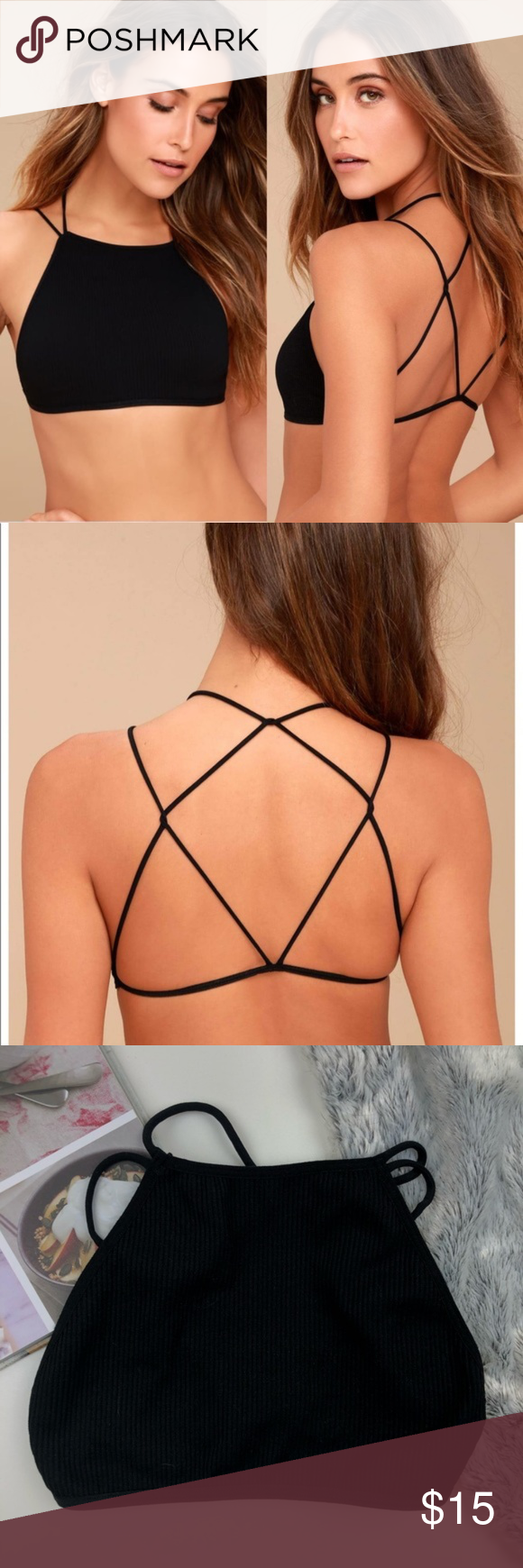 f37495b21405a NWT Free People High neck strappy bralette NWT Free People High neck  strappy bralette -size