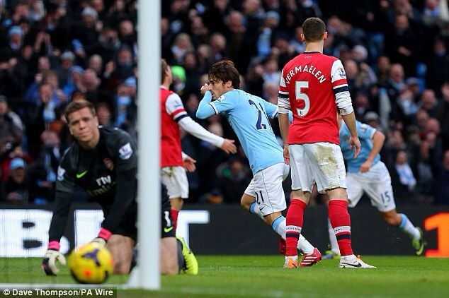 #70 David Silva 6 - 3 vs Arsenal 14/12/13 (With images ...