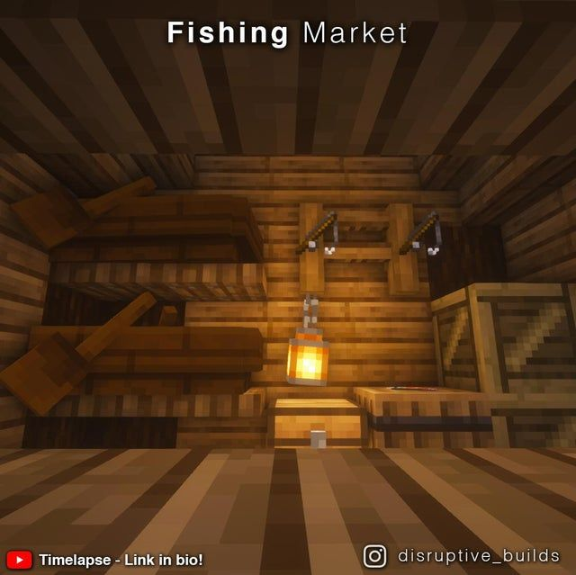 I made a little Fishing Market with a timelapse! I