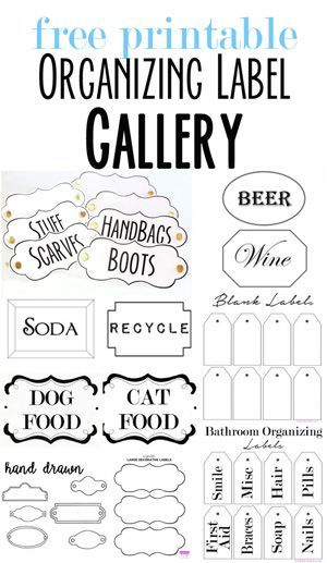 Free Printable Labels To Organize Your Stuff