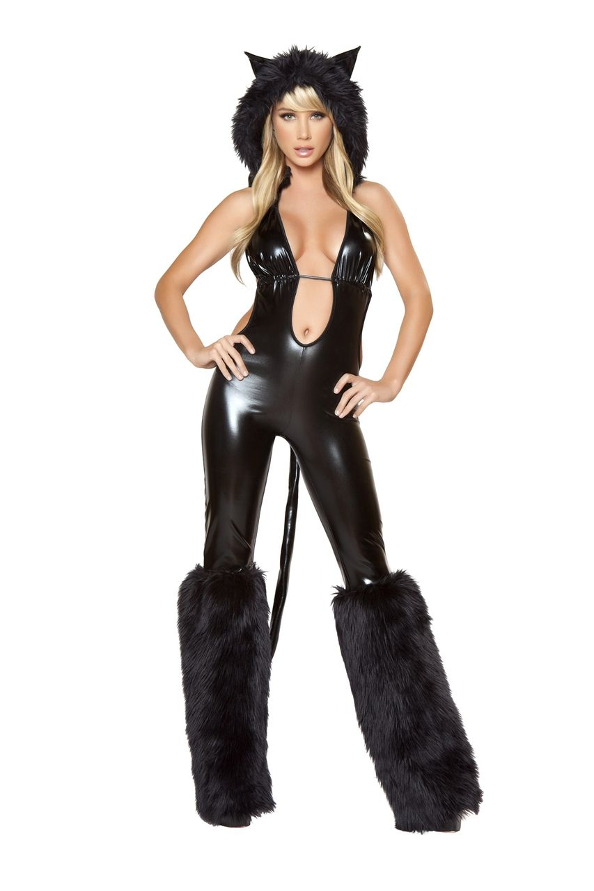 Sexy Roma Kitty Kitten Feline Black Cat Babe Costume  7fa7a054c7