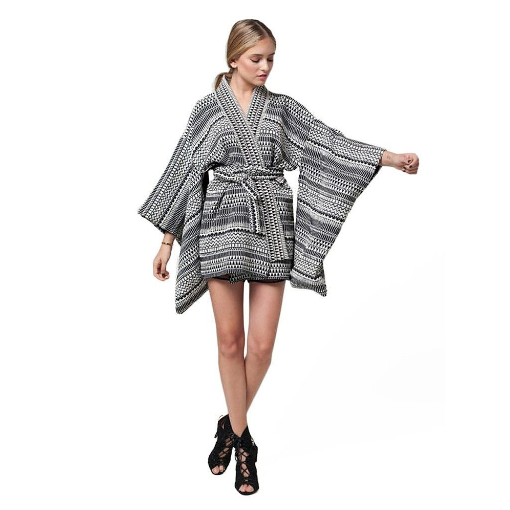 Jessica Faulkner - Mai Tribal Kimono Sleeve Jacket