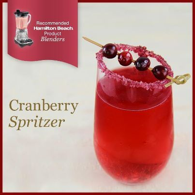 Want a light, refreshing drink for the holidays? Try this Cranberry Spritzer! #recipe http://www.hamiltonbeach.com/products/recipes/cranberry-spritzer.html