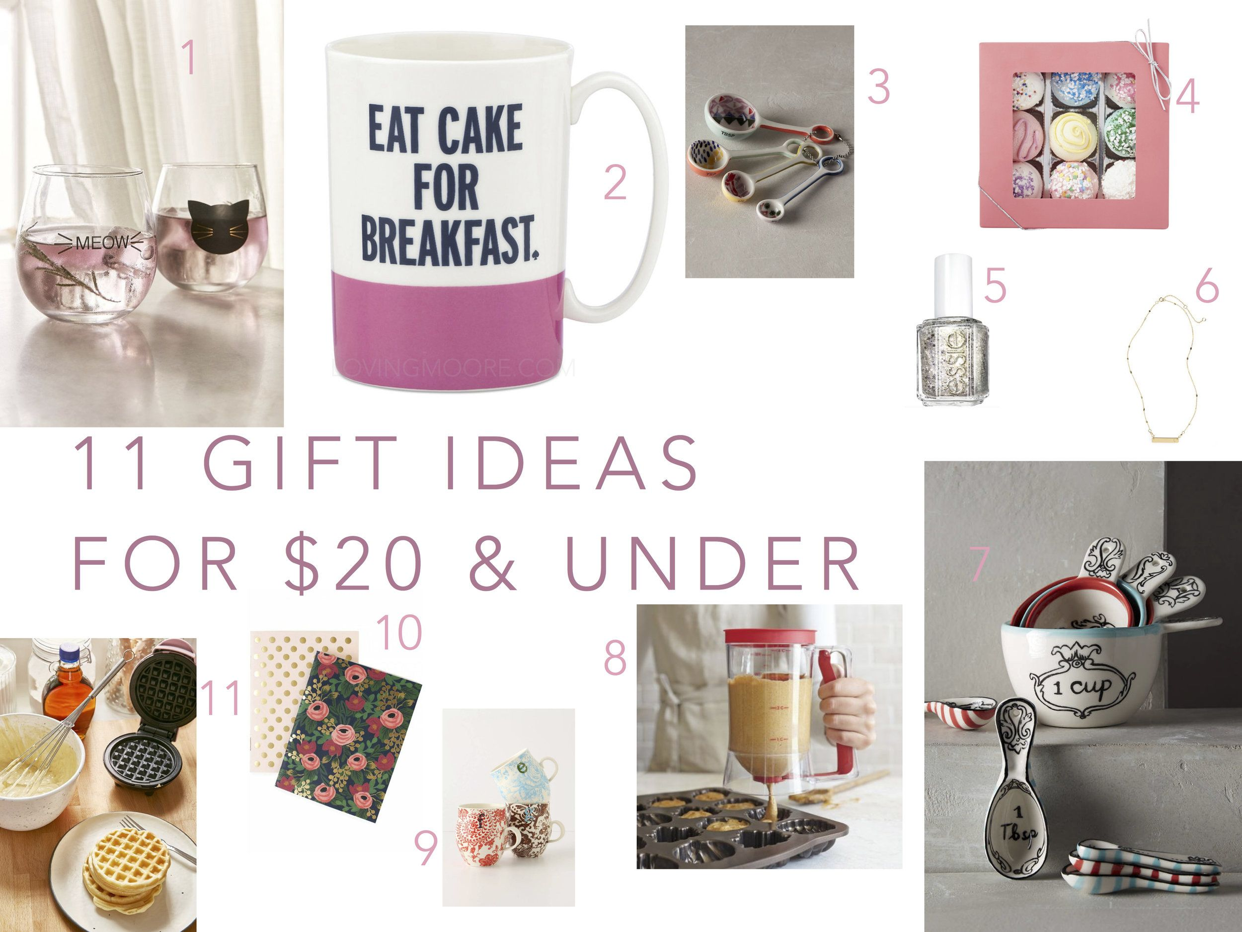 11 gift ideas for 20 under gift exchanges white